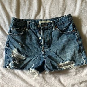 Topshop Ashley denim shorts size 8